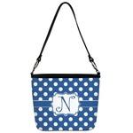 Polka Dots Bucket Bag w/ Genuine Leather Trim (Personalized)