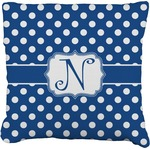 Polka Dots Faux-Linen Throw Pillow (Personalized)