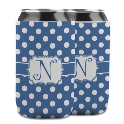 Polka Dots Can Cooler (12 oz) w/ Initial