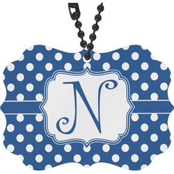 Polka Dots Rear View Mirror Charm (Personalized)