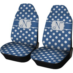 Polka Dots Car Seat Covers (Set of Two) (Personalized)