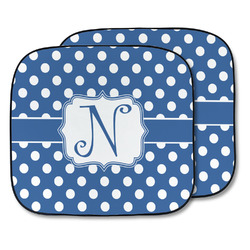 Polka Dots Car Sun Shade - Two Piece (Personalized)