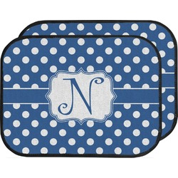 Polka Dots Car Floor Mats (Back Seat) (Personalized)