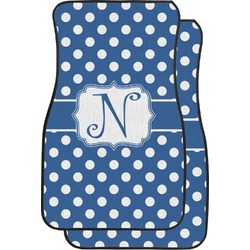 Polka Dots Car Floor Mats (Front Seat) (Personalized)