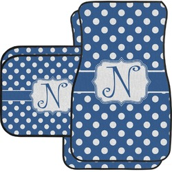 Polka Dots Car Floor Mats (Personalized)