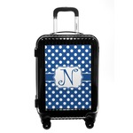Polka Dots Carry On Hard Shell Suitcase (Personalized)