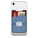 Polka Dots 2-in-1 Cell Phone Credit Card Holder & Screen Cleaner (Personalized)