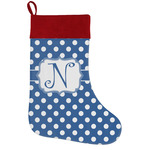 Polka Dots Holiday Stocking w/ Initial