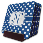 Polka Dots Coaster Set w/ Stand (Personalized)