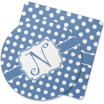 Polka Dots Rubber Backed Coaster (Personalized)