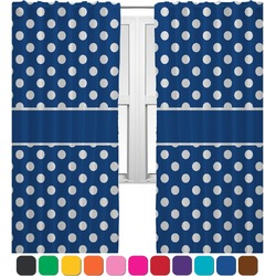 Polka Dots Curtains (2 Panels Per Set) (Personalized)