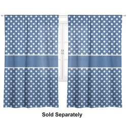 """Polka Dots Curtains - 40""""x54"""" Panels - Lined (2 Panels Per Set) (Personalized)"""