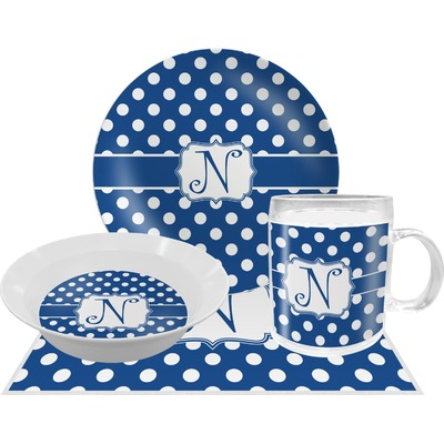 Polka Dots Dinner Set - 4 Pc (Personalized)