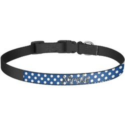 Polka Dots Dog Collar - Large (Personalized)