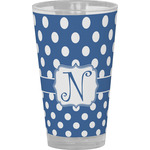 Polka Dots Drinking / Pint Glass (Personalized)