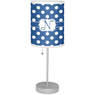 """Polka Dots 7"""" Drum Lamp with Shade (Personalized)"""