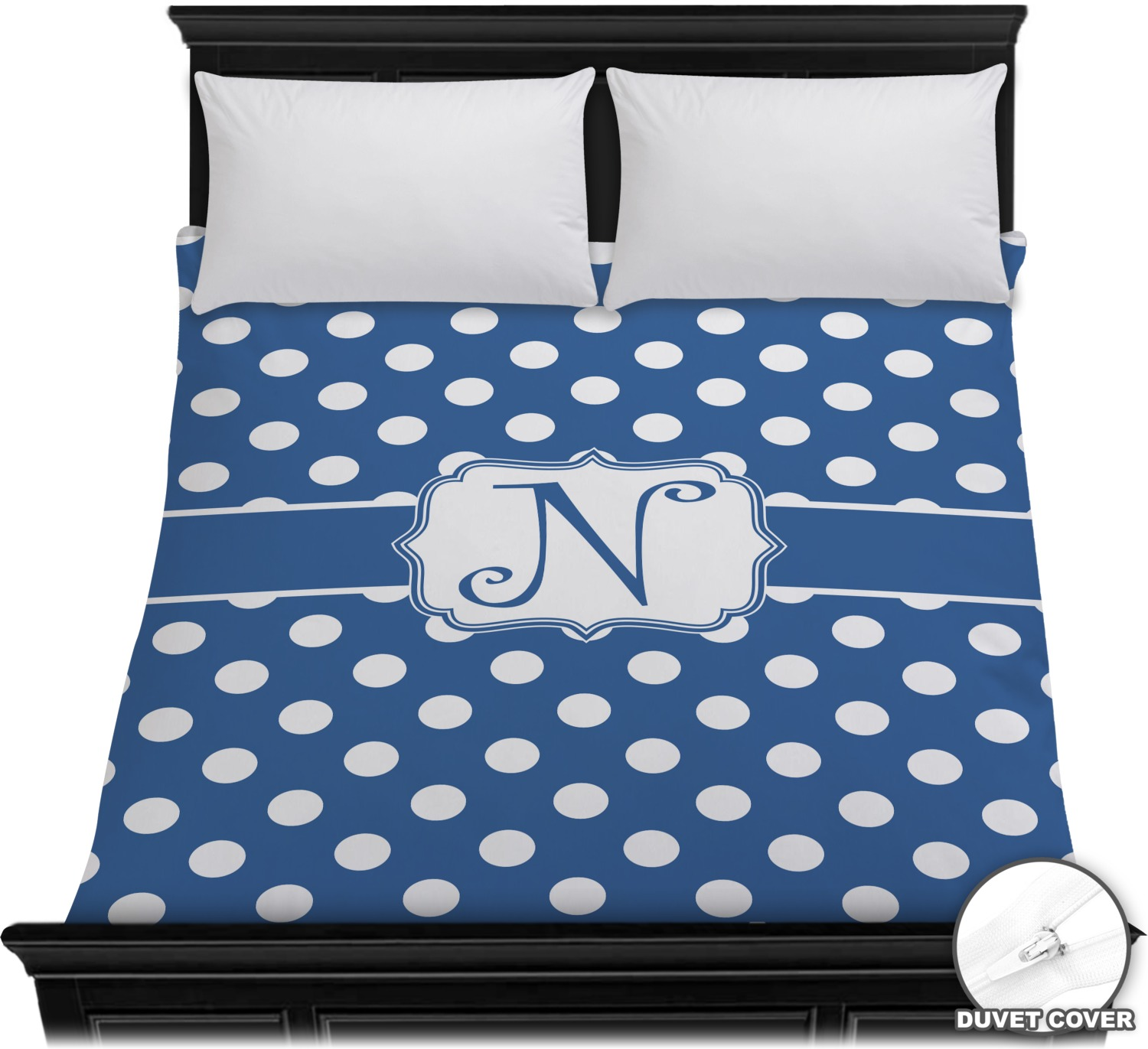 polka dots duvet cover full queen personalized youcustomizeit. Black Bedroom Furniture Sets. Home Design Ideas