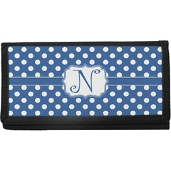 Polka Dots Canvas Checkbook Cover (Personalized)