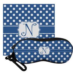 Polka Dots Eyeglass Case & Cloth (Personalized)