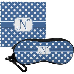 Polka Dots Eyeglass Case & Cloth (Personalized)