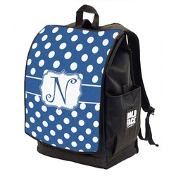 Polka Dots Backpack w/ Front Flap  (Personalized)