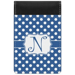 Polka Dots Genuine Leather Small Memo Pad (Personalized)
