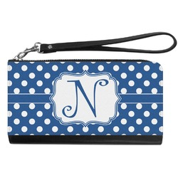 Polka Dots Genuine Leather Smartphone Wrist Wallet (Personalized)