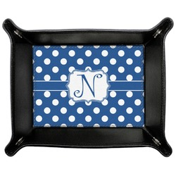 Polka Dots Genuine Leather Valet Tray (Personalized)