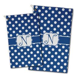 Polka Dots Golf Towel - Full Print w/ Initial