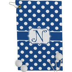 Polka Dots Golf Towel - Full Print (Personalized)