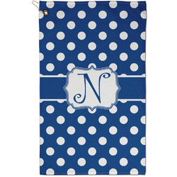 Polka Dots Golf Towel - Full Print - Small w/ Initial