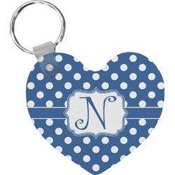 Polka Dots Heart Keychain (Personalized)