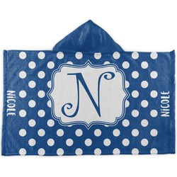Polka Dots Kids Hooded Towel (Personalized)