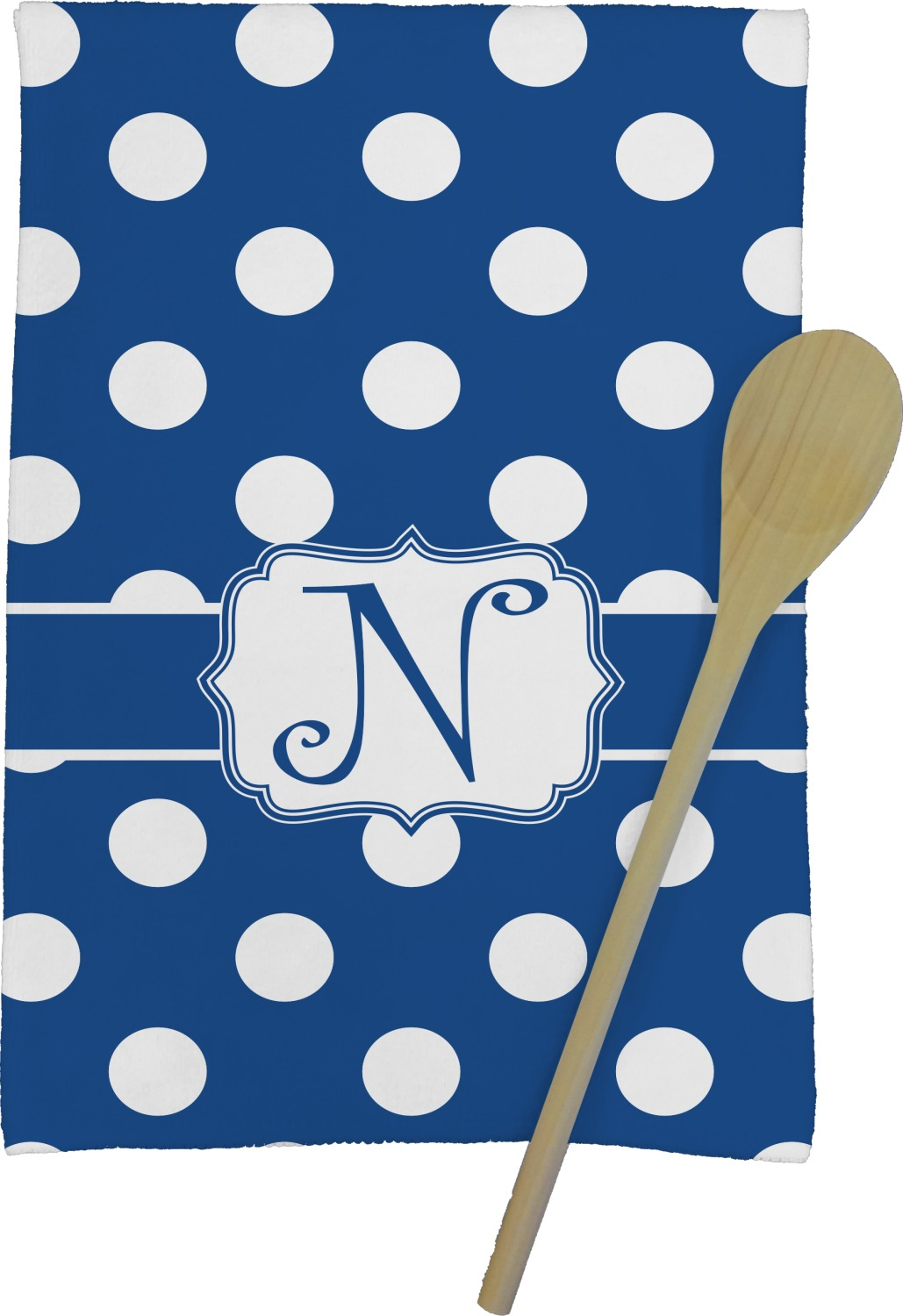 Polka Dots Kitchen Towel Full Print Personalized Youcustomizeit