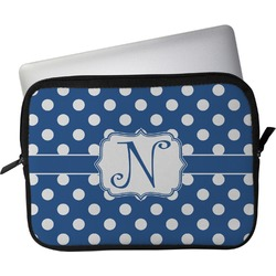 """Polka Dots Laptop Sleeve / Case - 12"""" (Personalized)"""