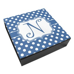 Polka Dots Leatherette Keepsake Box - 8x8 (Personalized)