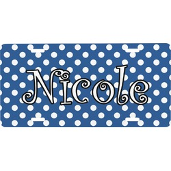 Polka Dots Front License Plate (Personalized)
