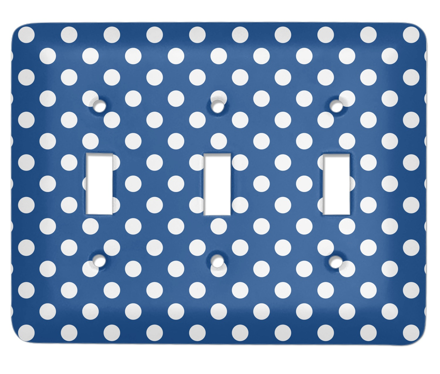Polka Dots Light Switch Cover 3 Toggle Plate Personalized