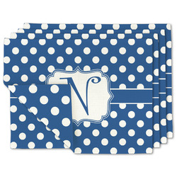 Polka Dots Linen Placemat w/ Initial