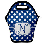 Polka Dots Lunch Bag w/ Initial