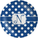 Polka Dots Melamine Plate (Personalized)