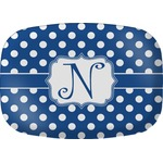 Polka Dots Melamine Platter (Personalized)