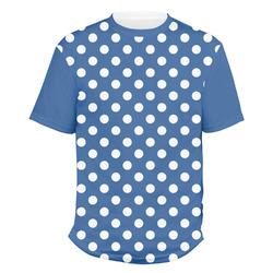 Polka Dots Men's Crew T-Shirt (Personalized)