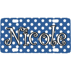 Polka Dots Mini / Bicycle License Plate (Personalized)