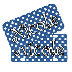 Polka Dots Mini/Bicycle License Plates (Personalized)