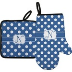 Polka Dots Oven Mitt & Pot Holder (Personalized)