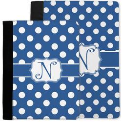 Polka Dots Notebook Padfolio w/ Initial