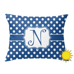 Polka Dots Outdoor Throw Pillow (Rectangular) (Personalized)