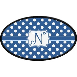 Polka Dots Oval Trailer Hitch Cover (Personalized)