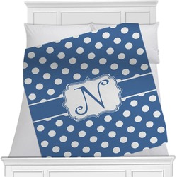 "Polka Dots Fleece Blanket - Twin / Full - 80""x60"" - Single Sided (Personalized)"